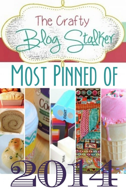 These are the most Pinterest Pinned tutorials from The Crafty Blog Stalker in 2014. From easy sew projects to yummy recipes.
