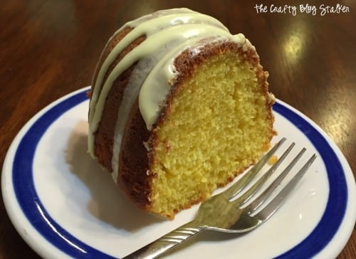How to Make Delicious Lemon Bundt Cake, a recipe tutorial featured by top US craft blog, The Crafty Blog Stalker.