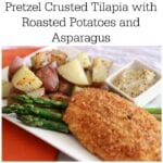 Pretzel Crusted Tilapia with Potatoes and Asparagus