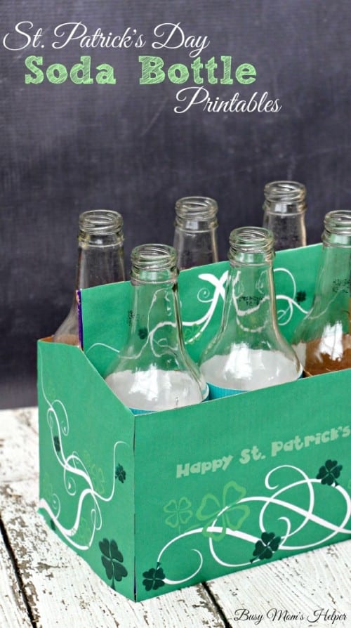 7 Easy Irish Crafts for St. Patrick's Day featured by top US craft blog, The Crafty Blog Stalker: happy st. patrick's day soda bottle printables