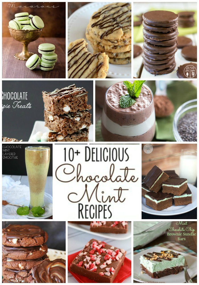 mint chocolate collage