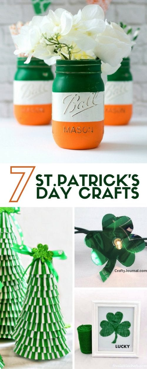 Need a little St. Patrick's Day Inspiration? These 7 easy DIY Craft Project Ideas will get you started. Great home decor projects or just for fun crafts.