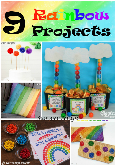 9 Rainbow Projects - perfect for St. Patrick's Day and spring! | Summer Scraps
