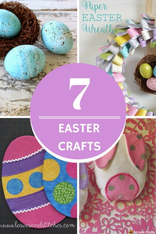 title image with a collage of easter craft ideas