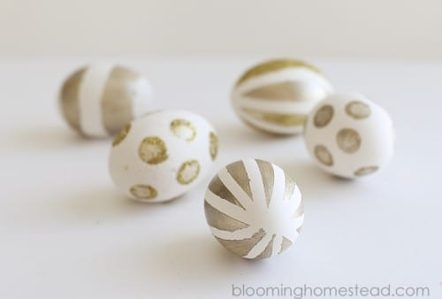 Gold Painted Eggs
