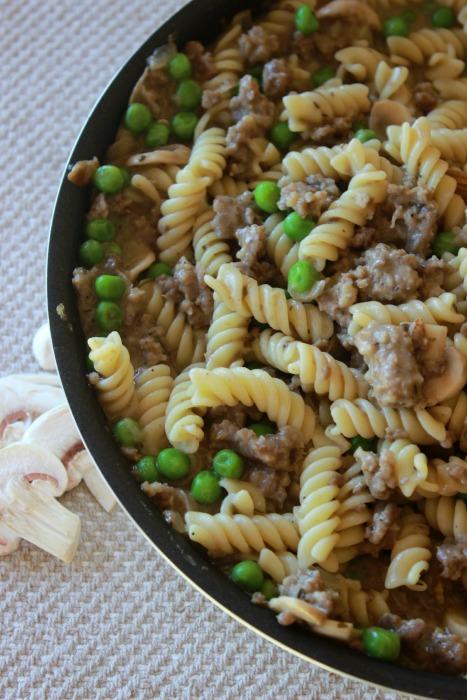 Rotini-with-Sausage-Mushroom-Sauce