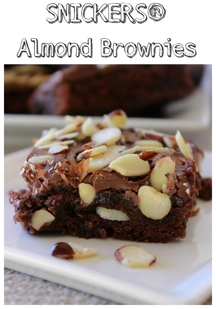 SNICKERS Almond Brownies