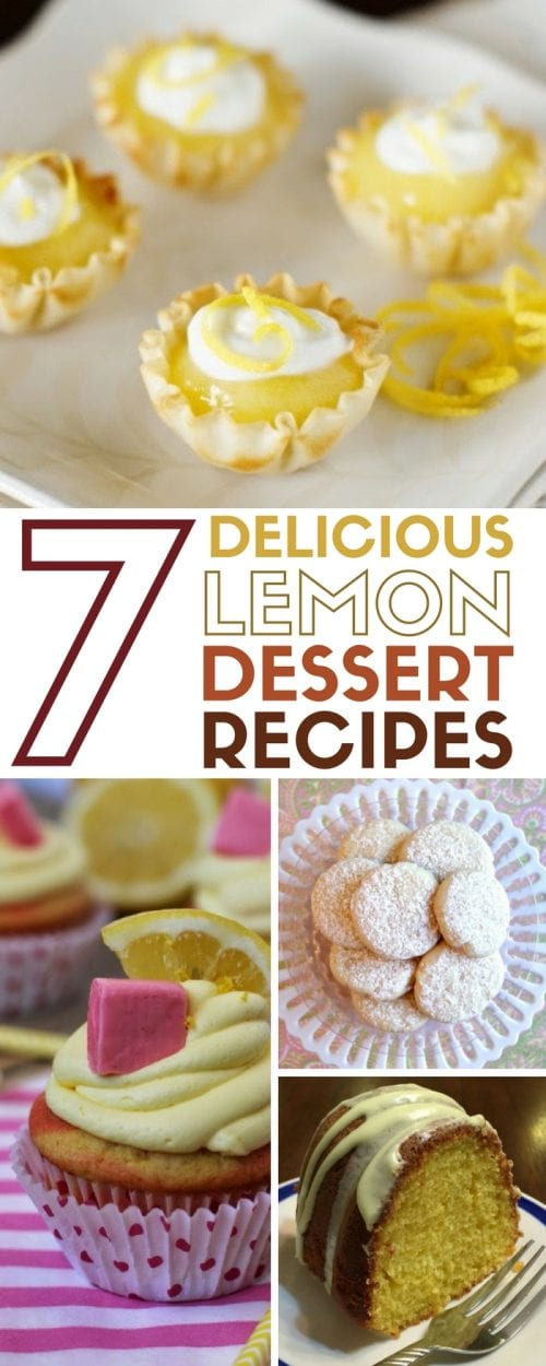 Lemon Dessert Recipes | Desserts | Bars | Cookies | Cake |