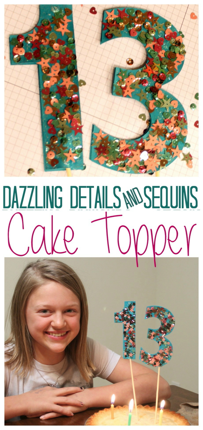 Design Your Own Birthday Cake Topper : Stampin  Up! Dazzling Details and Sequens Cake Topper