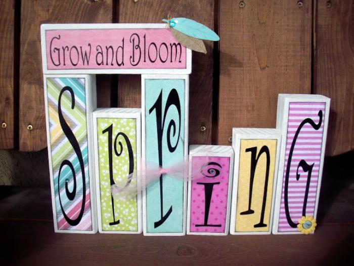 Spring Wood Blocks