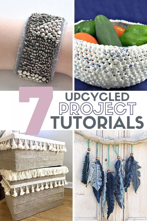 title image for 7 Easy Upcycled Projects for Adults