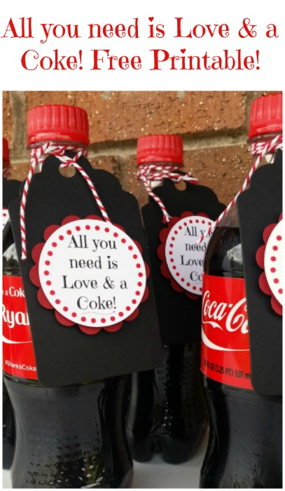 All you need is Love and a Coke Printable