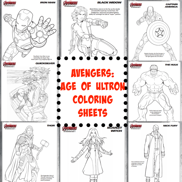 avengers age of ultron coloring sheets