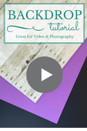 Cheap Backdrop Video Tutorial