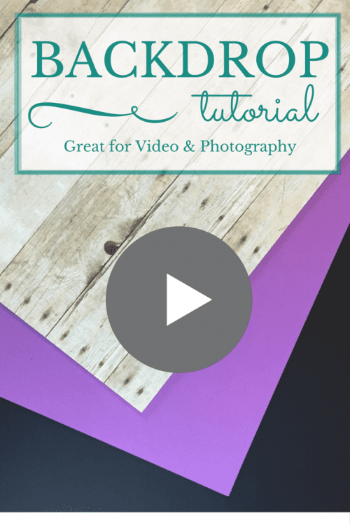 Follow this video tutorial and create a cheap backdrop board for your video or photography. Backdrop boards give you a professional look.
