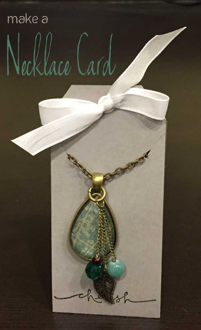 Custom jewelry deserves a custom jewelry card. A simple DIY craft tutorial idea. A necklace card is great when selling jewelry or giving it away as a gift