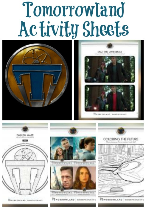 Tomorrowland Activity Sheets
