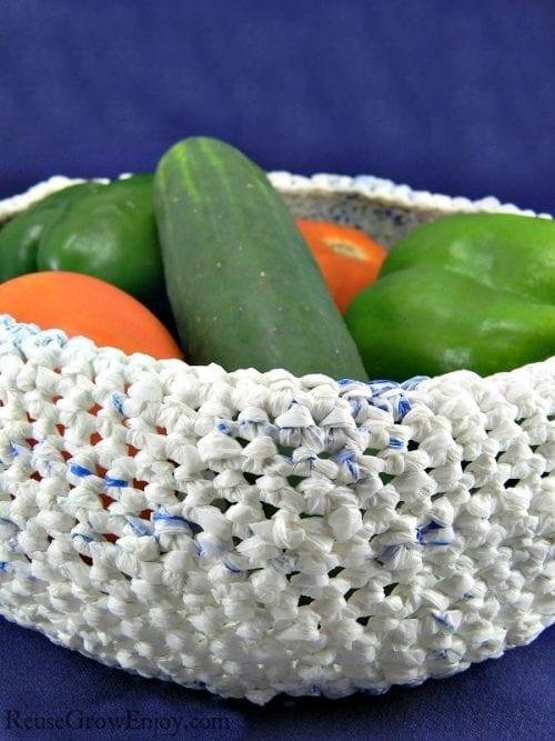 image of Upcycled Basket Bowl
