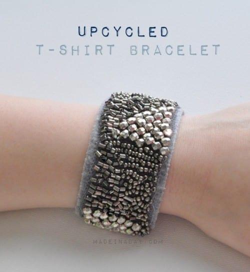 image of Upcycled T-shirt Bracelet