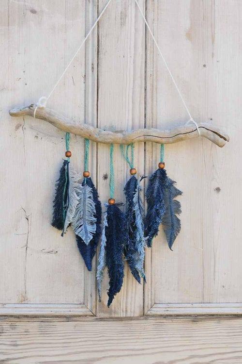 image of Denim Feather Decor