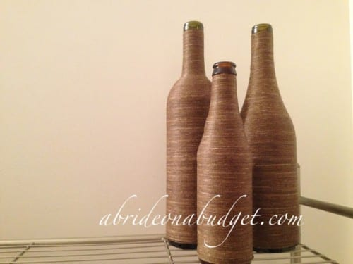 image of Twine Wrapped Wine Bottle Tutorial