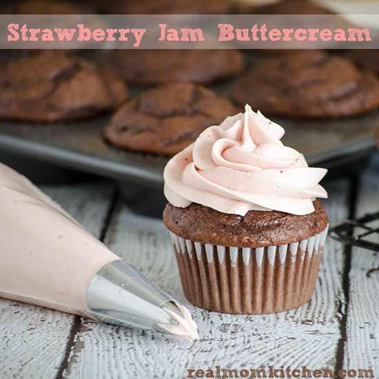 strawberry jam buttercream