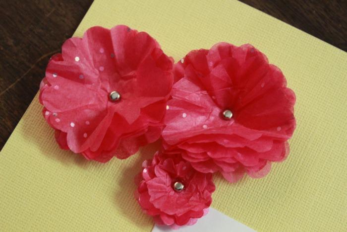 tissue paper flower corner