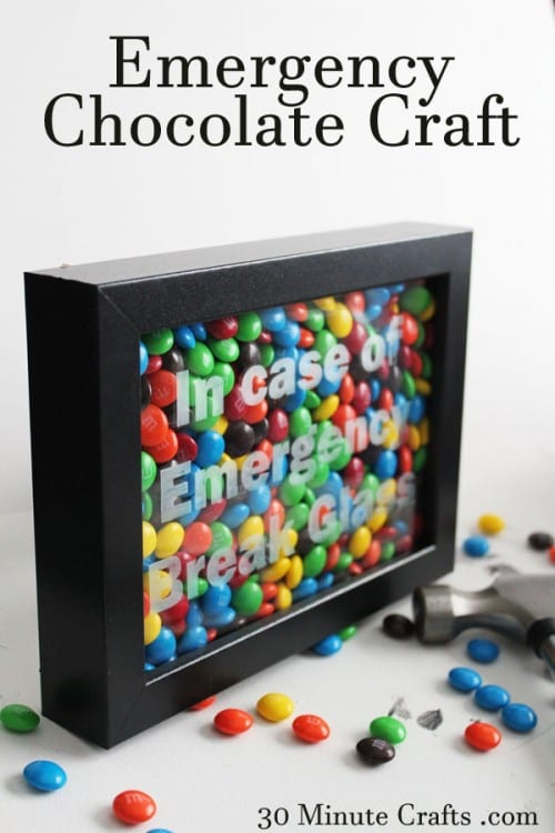 Put some thought into your gift of cash and make it fun. This in case of emergency break glass frame is a fun unique way to give cash that they will love!