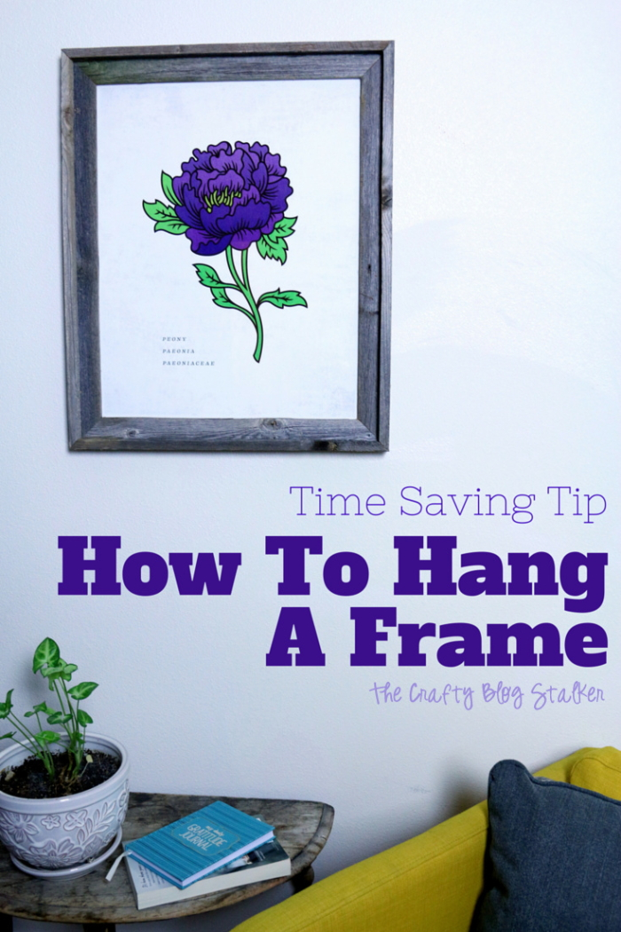 Learn a time-saving tip when it comes to hanging frames and wall art. I will show you how to quickly hang a frame leaving all of the guess work out of it.