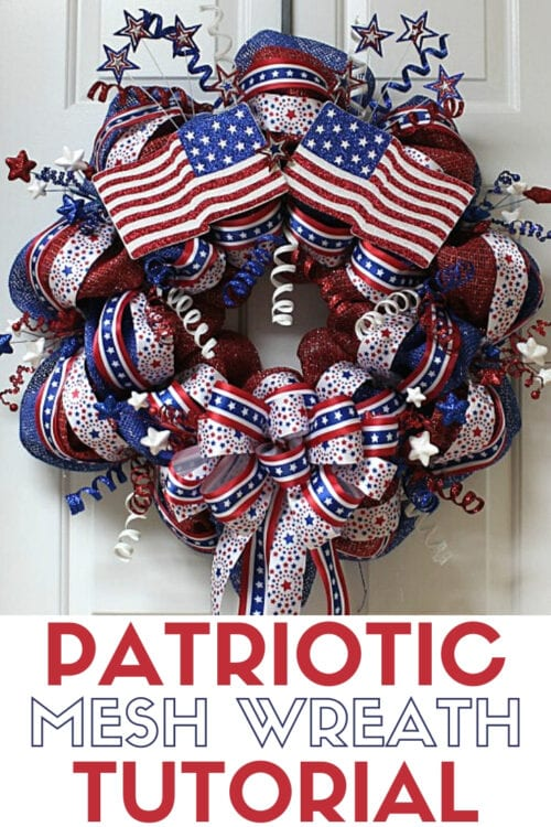 title image for patriotic wreath tutorial