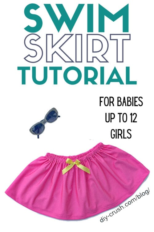 title image for How to Sew a Girls Swim Skirt Cover Up