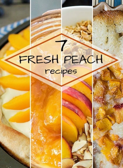 A collection of fresh peach recipes for the summer. Pizza, smoothies, jam, cakes and more. How do you cook with fresh peaches?