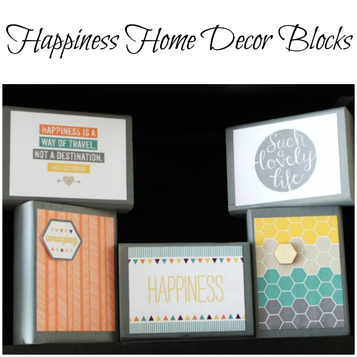 Happiness Home Decor Blocks