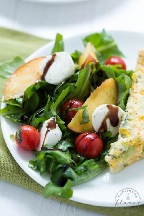 The Best 7 Fresh Peach Recipes, a tutorial featured by top US craft blog, The Crafty Blog Stalker: Peach Caprese Salad
