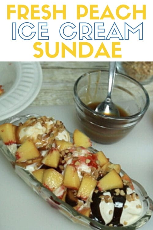 title image for How to Make a Fresh Peach Ice Cream Sundae