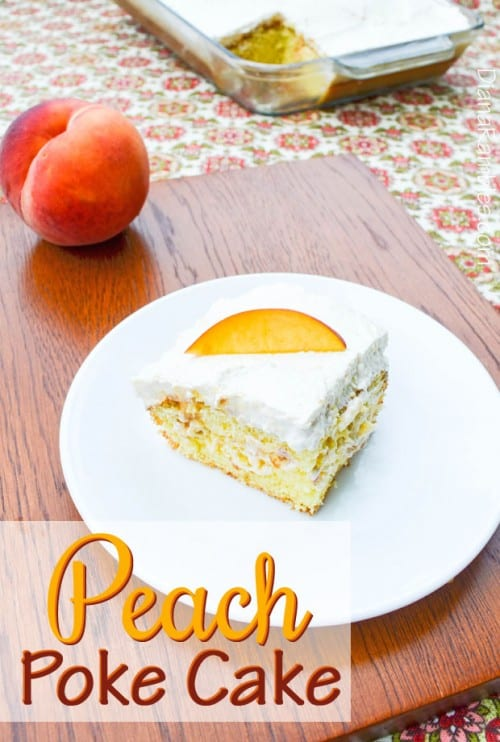 The Best 7 Fresh Peach Recipes, a tutorial featured by top US craft blog, The Crafty Blog Stalker: Peach Poke Cake