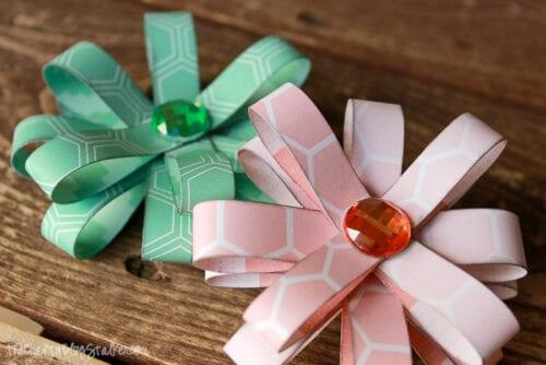 easy flowers paper loops