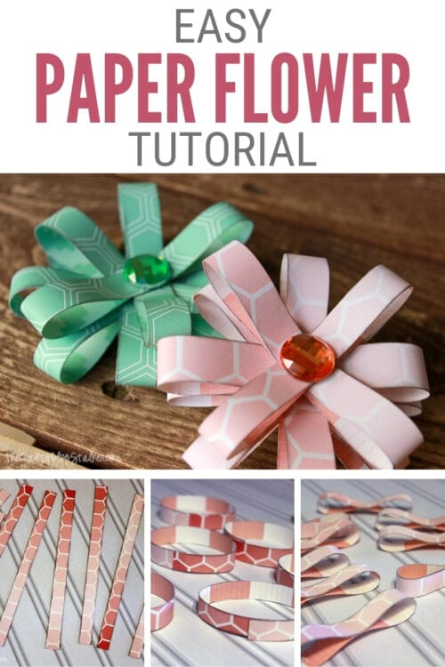 title image for How to Make Easy Flowers with Paper Loops