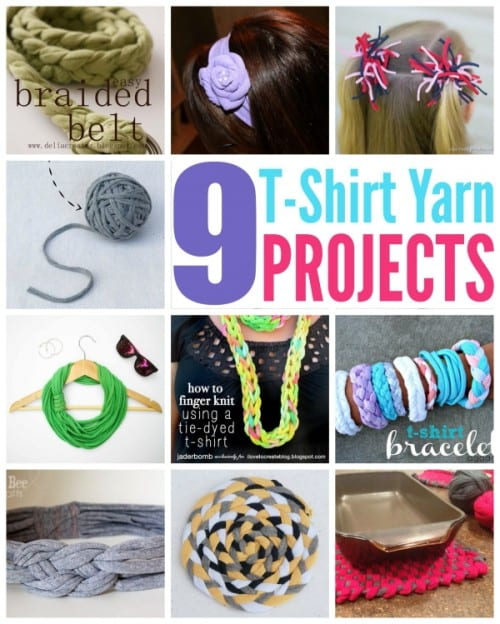 You can make all sorts of fun projects with t-shirt yarn, this collection of project ideas will get you started. Don't throw away your old shirts!