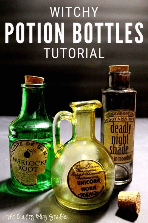 Title image for How to Make Witch Potion Bottles for Halloween