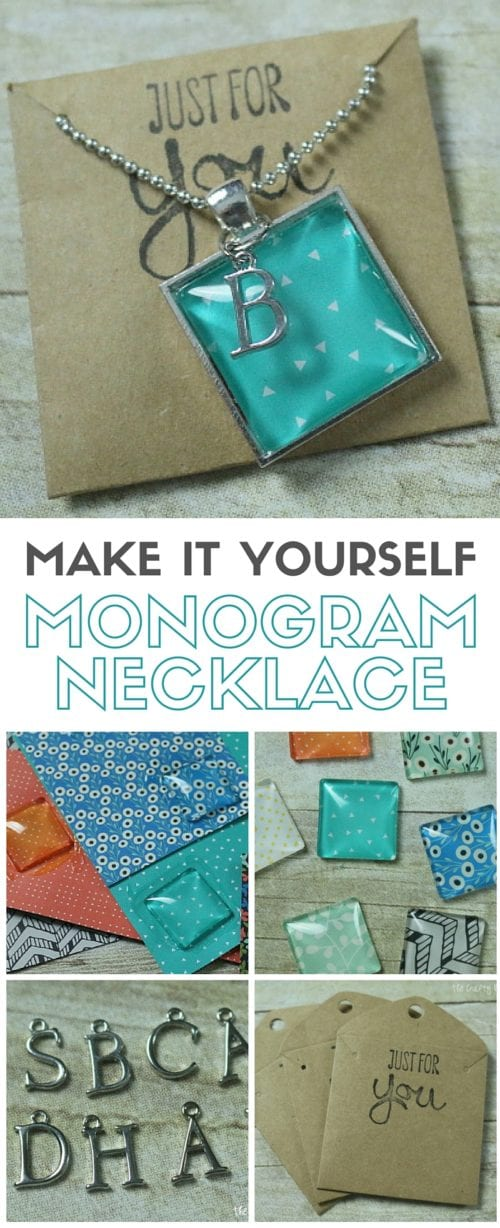 Make it yourself monogram necklace the crafty blog stalker make yourself a beautiful monogram necklace follow this tutorial to learn how charm necklaces solutioingenieria Images
