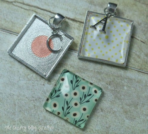 How to Make a Monogram Charm Necklace, a tutorial featured by top US craft blog, The Crafty Blog Stalker.