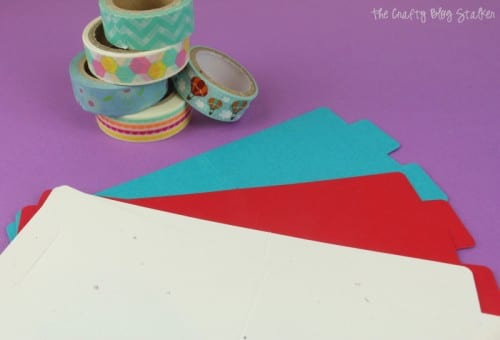 card blanks and a stack of washi tape