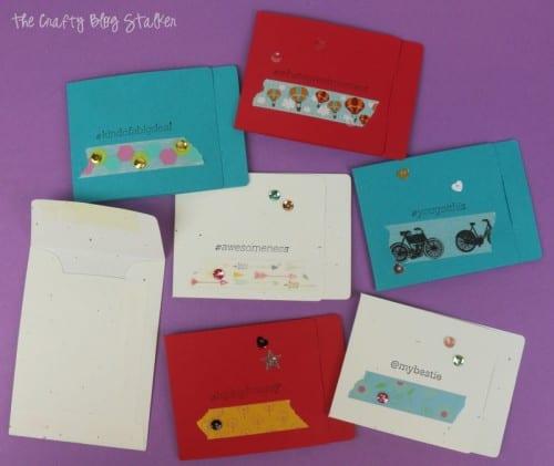 finished handmade cards