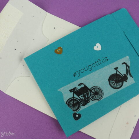 Make and give a Super Simple Handmade Card using washi tape and supplies you already have on hand.