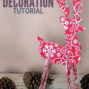 3D Reindeer Decoration 20