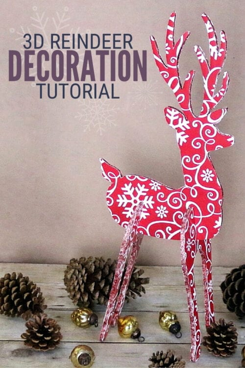 title image for How to Make a 3D Reindeer Decoration