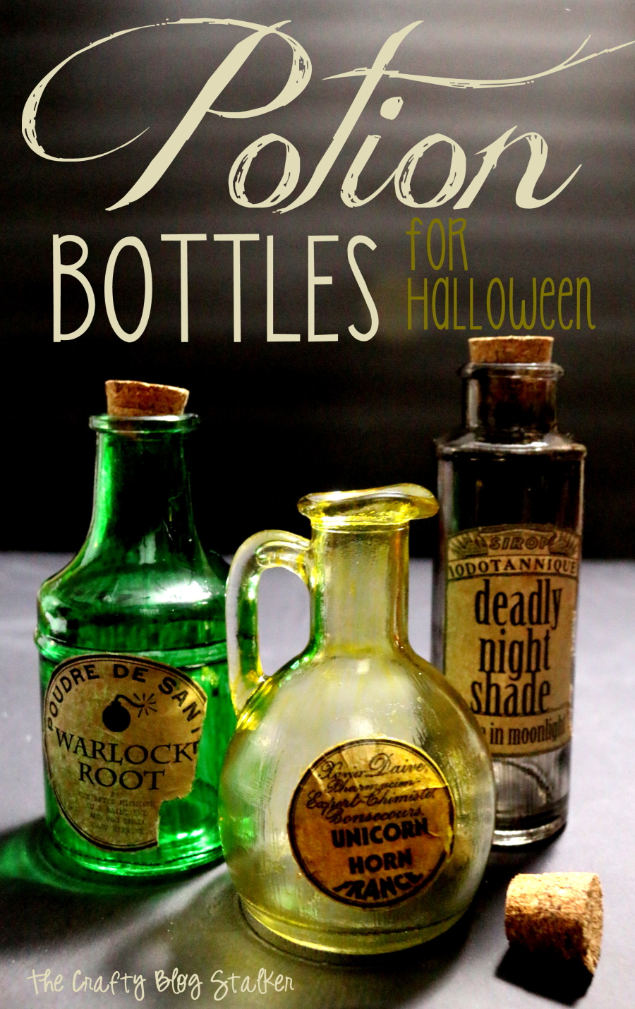 Potion bottles for halloween the crafty blog stalker - How to make homemade halloween decorations ...
