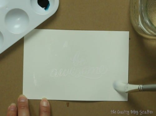 How to Make a DIY Watercolor Saying, a tutorial featured by top US craft blog, The Crafty Blog Stalker