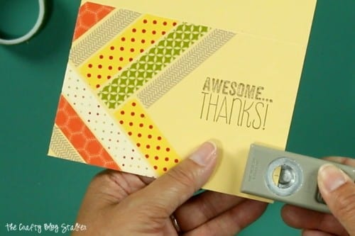 A handmade card will brighten anyone's day. A simple DIY craft tutorial idea, all you need is some washi tape, baker's twine, and a stamped greeting.